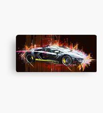 Sportscar, Lamborghini - Popart / Auto Canvas Print