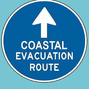 coastal evacuation route sign