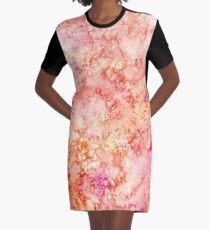 """Sunny"" ~ Abstract Watercolor Painting  Graphic T-Shirt Dress"