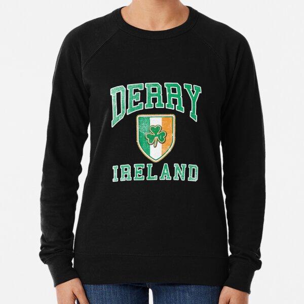 Derry, Ireland with Shamrock Lightweight Sweatshirt