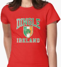 Dingle, Ireland with Shamrock Womens Fitted T-Shirt