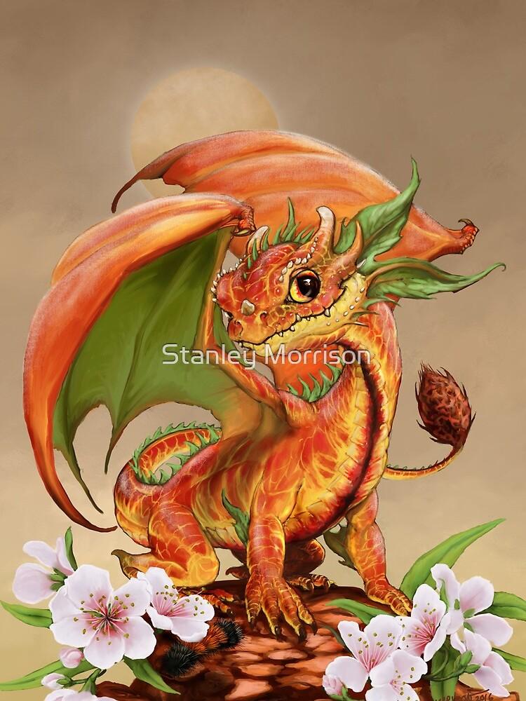 Peach Dragon by SMorrisonArt