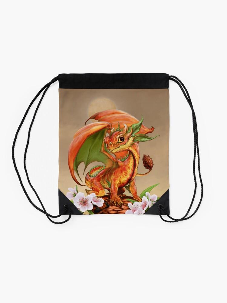 Alternate view of Peach Dragon Drawstring Bag