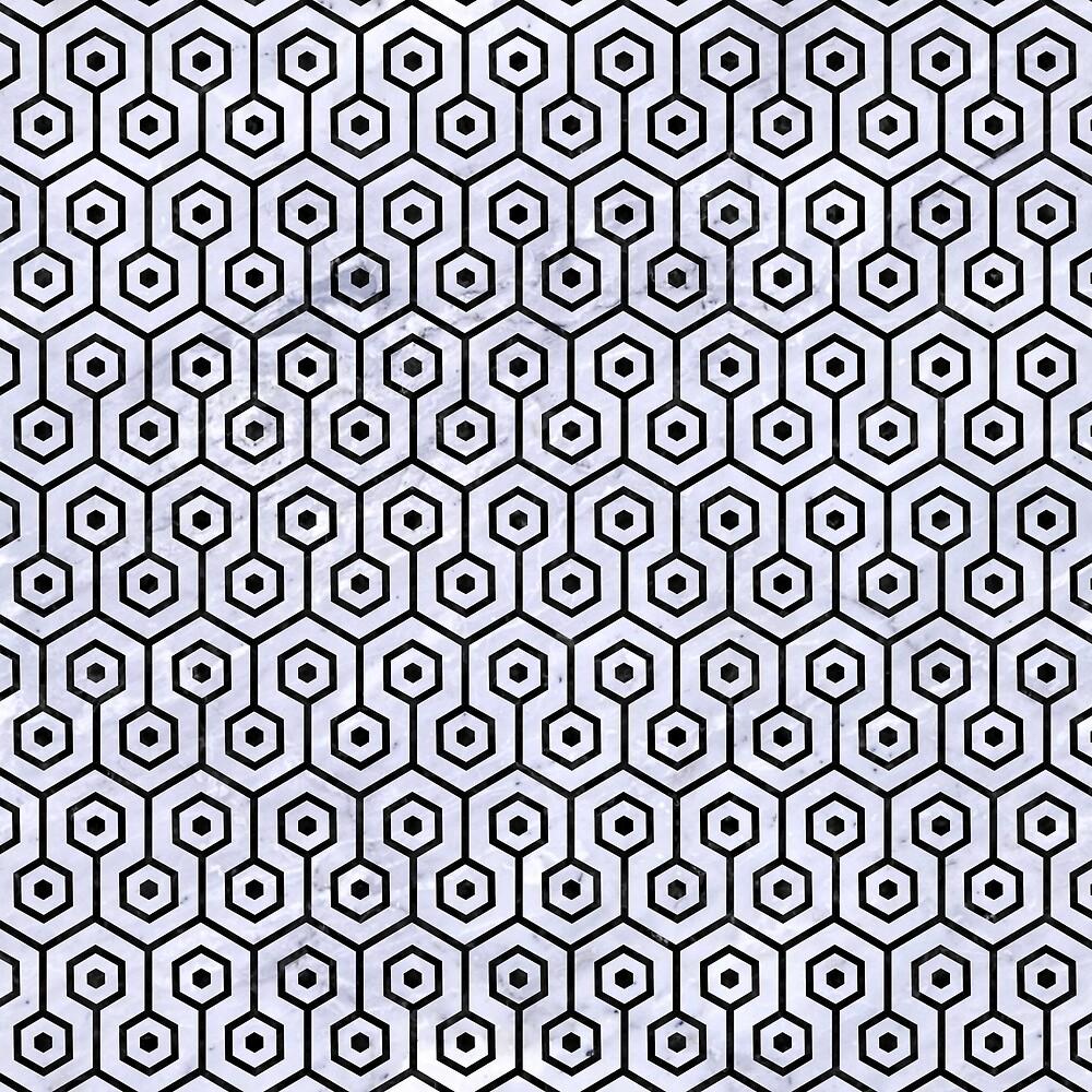 HEXAGON1 BLACK MARBLE AND WHITE MARBLE (R) by johnhunternance