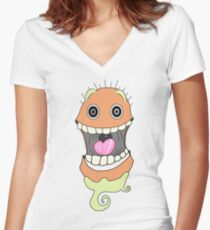The Crazy Rag Doll Women's Fitted V-Neck T-Shirt