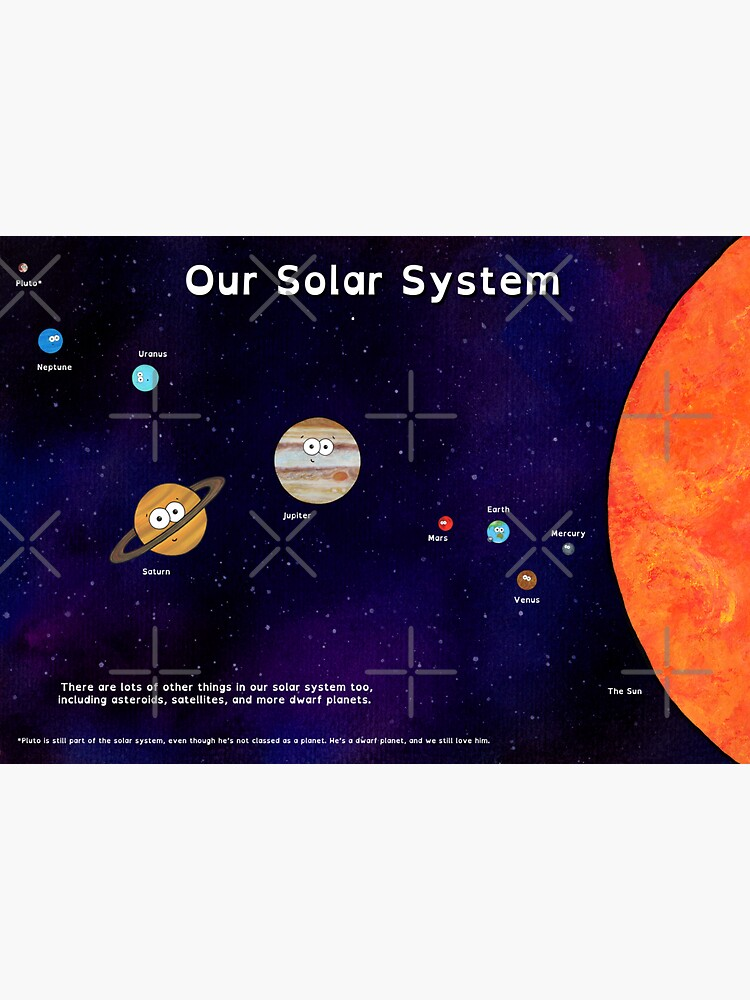 Cute Planets - A Solar System Poster by AdrienneBody