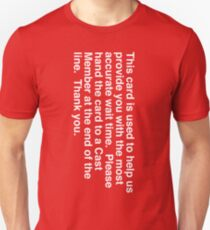 Wait Time Red Card  Unisex T-Shirt
