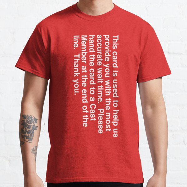 Wait Time Red Card  Classic T-Shirt