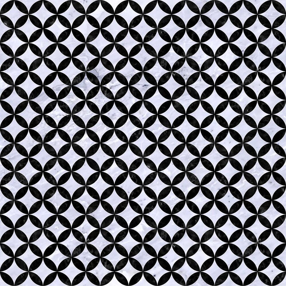 CIRCLES3 BLACK MARBLE AND WHITE MARBLE (R) by johnhunternance