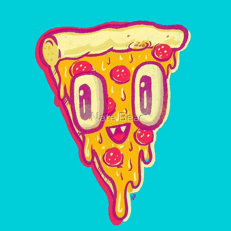Pizza face buddy by nate bear