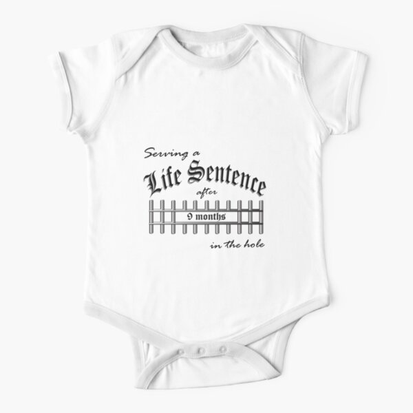Serving a Life Sentence - Black Version Short Sleeve Baby One-Piece