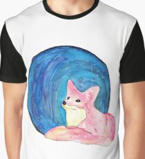 Space Fox (White Background) Graphic T-Shirt