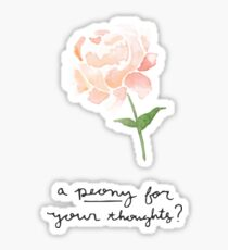 Peony For Your Thoughts Sticker