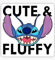 Cute an fluffy alien Sticker