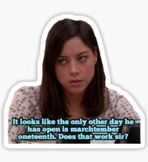 Parks & Rec - April Ludgate Sticker