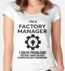 FACTORY MANAGER - NICE DESIGN 2017 Women's Fitted Scoop T-Shirt