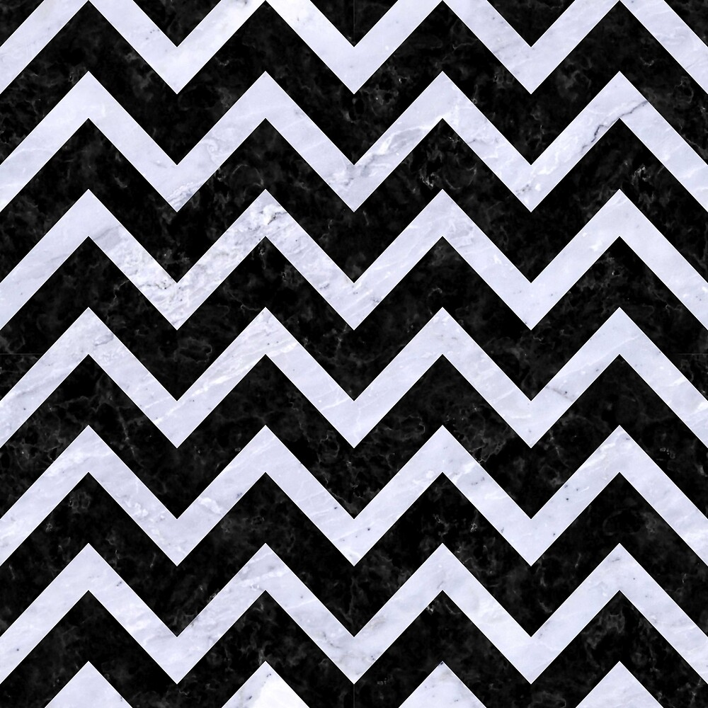 CHEVRON9 BLACK MARBLE AND WHITE MARBLE by johnhunternance