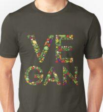 Pro Vegan T Shirt - Unisex - text with vegetables T-Shirt