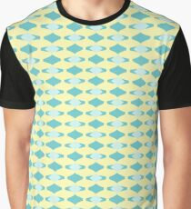 Funky Blue Diamonds Graphic T-Shirt