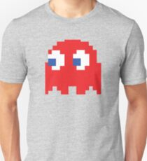 Ghost Pixel Retro Arcade Gaming 8-bit Style Unisex T-Shirt