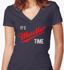es ist MÜLLER-Zeit Shirt mit V-Ausschnitt