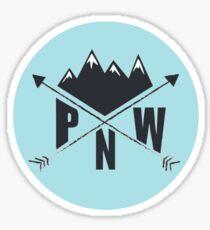 Pegatina PNW (azul)