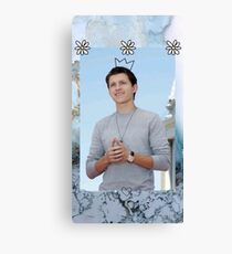 Tom Holland edit with crown Canvas Print