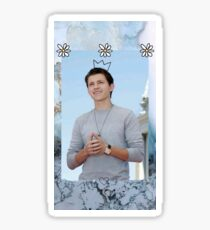 Tom Holland edit with crown Sticker