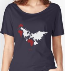 The Earth Is Rooster Flat Earth T Shirt Women's Relaxed Fit T-Shirt