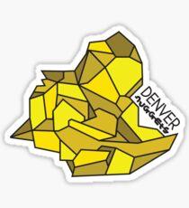 A Denver Nugget Sticker