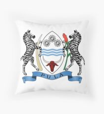 Botswana Coat of Arms Throw Pillow