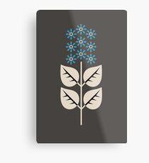 Herbaceous Blue Metal Print