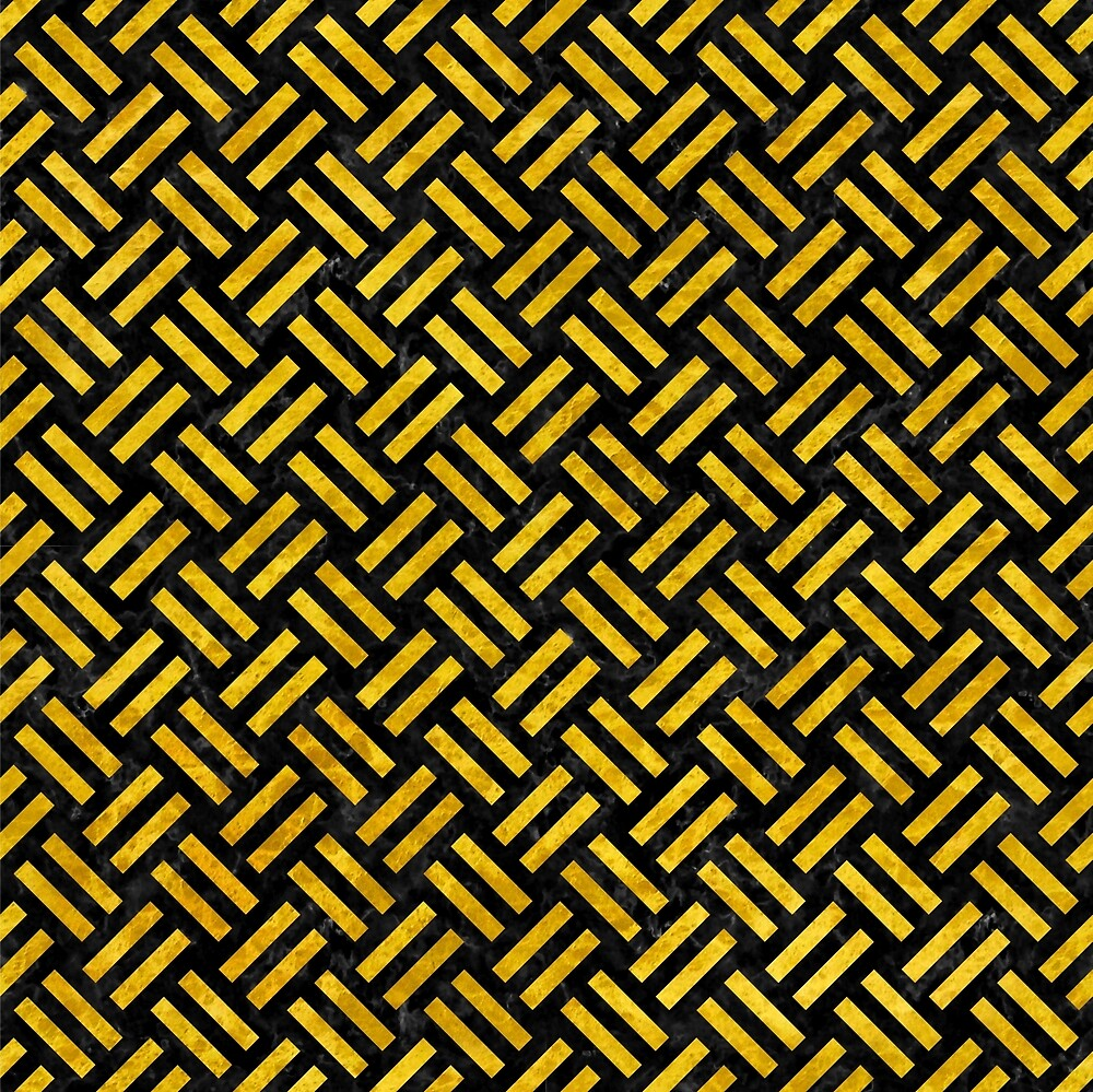 WOVEN2 BLACK MARBLE AND YELLOW MARBLE by johnhunternance