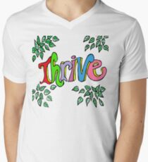 Multicolored Letters Thrive - Inspiration Mens V-Neck T-Shirt