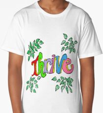 Multicolored Letters Thrive - Inspiration Long T-Shirt