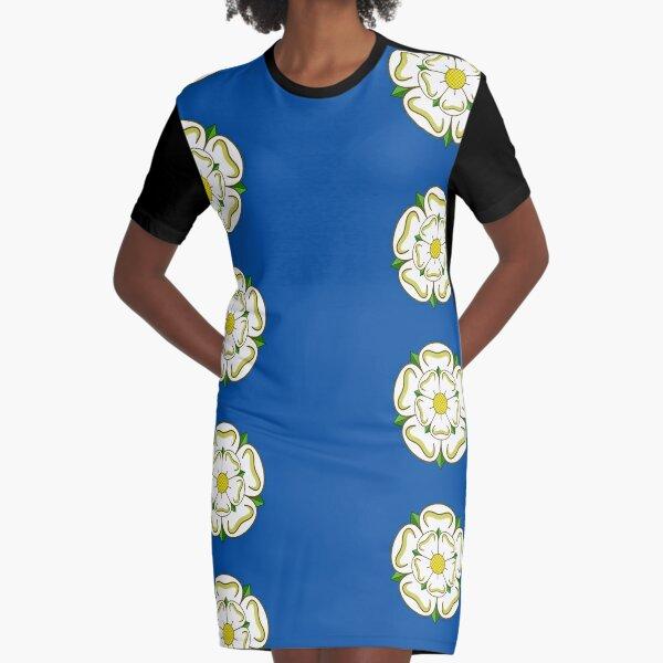 Yorkshire-Flagge, Großbritannien T-Shirt Kleid
