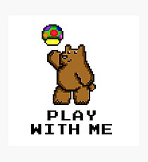 8-Bit Bear - Play with Me Photographic Print