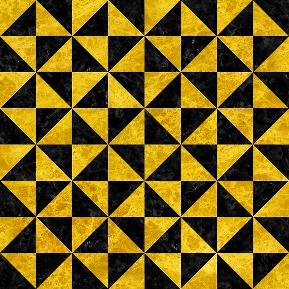 TRIANGLE1 BLACK MARBLE AND YELLOW MARBLE by johnhunternance