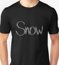 """Snow"" hand drawn typography T-Shirt"