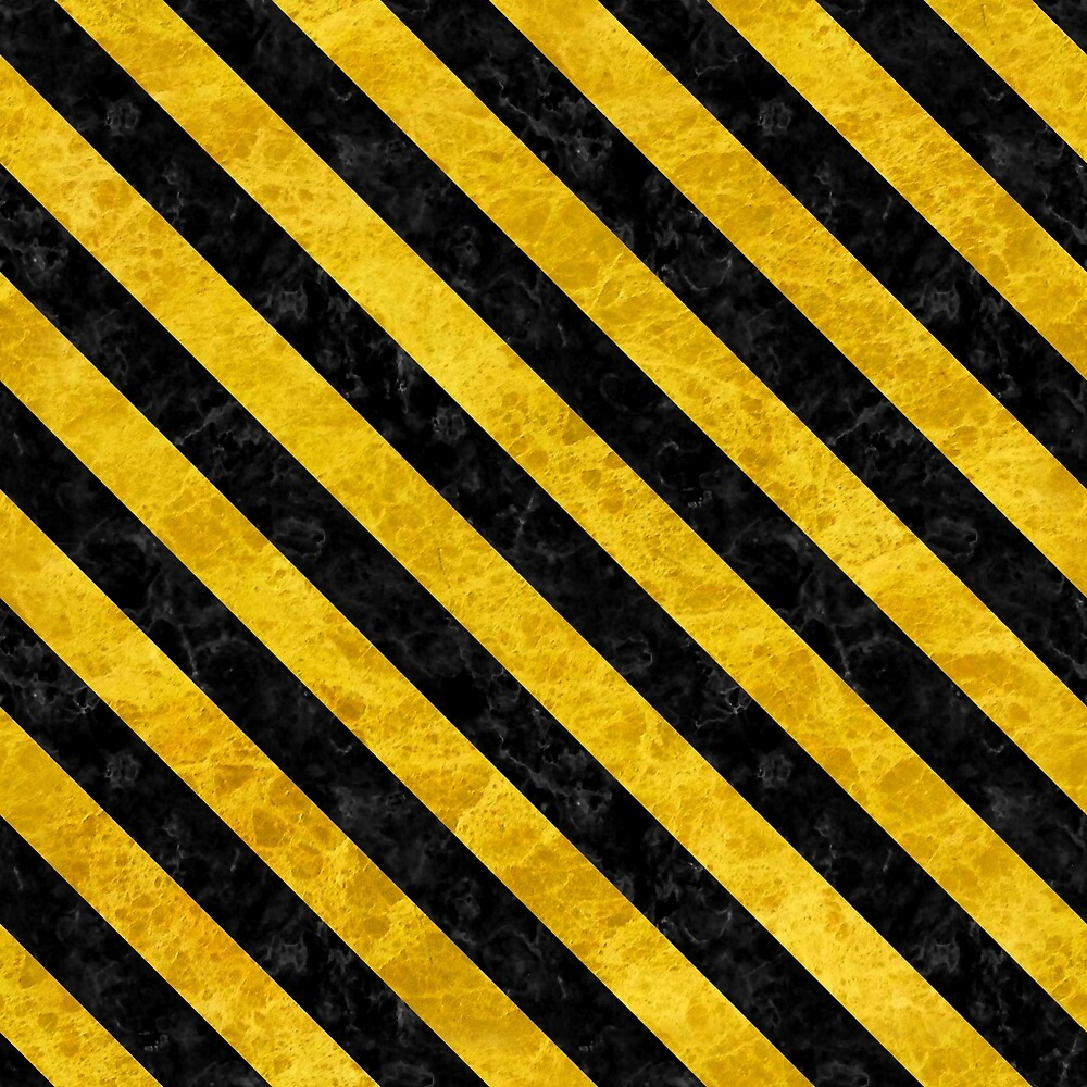 STRIPES3 BLACK MARBLE AND YELLOW MARBLE (R) by johnhunternance
