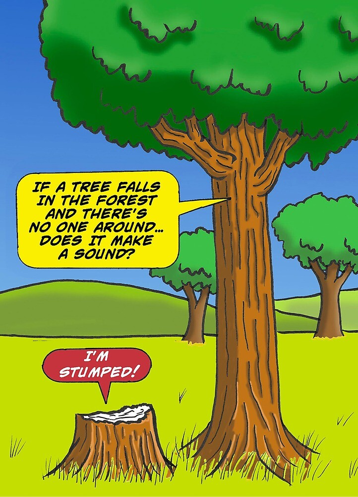 Quot Tree Fall In Forest Joke Quot By Laughinghippo Redbubble