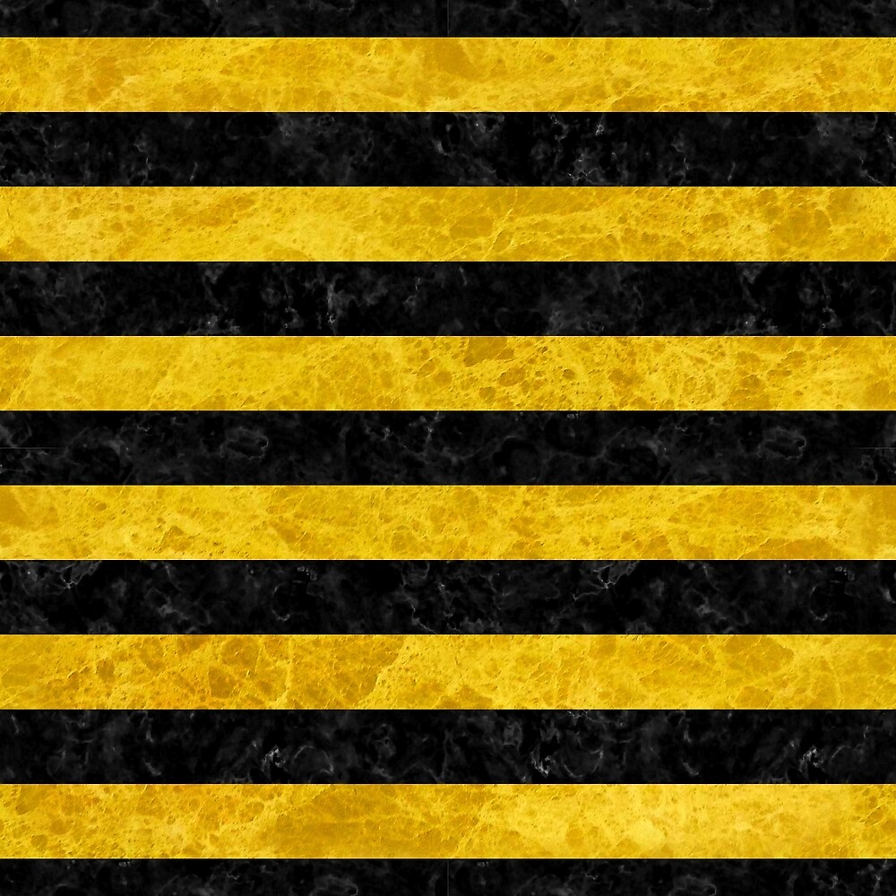 STRIPES2 BLACK MARBLE AND YELLOW MARBLE by johnhunternance