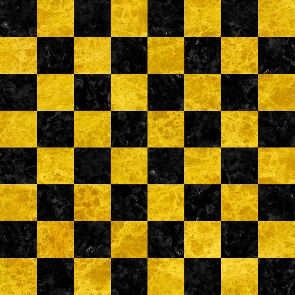 SQUARE1 BLACK MARBLE AND YELLOW MARBLE by johnhunternance
