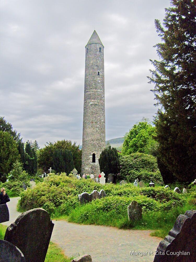 Round Tower of Glendalough, Ireland  by Margaret Zita Coughlan