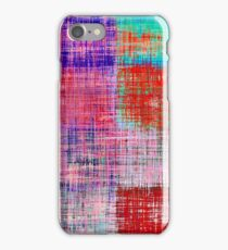 square plaid pattern texture abstract in red blue pink purple iPhone Case/Skin