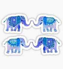 HAPPY ELEPHANTS - WATERCOLOR BLUE PALETTE Sticker