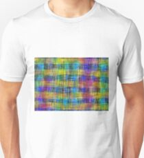 plaid pattern abstract texture in yellow pink blue Unisex T-Shirt