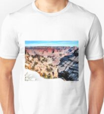 desert at Grand Canyon national park, USA in winter with snow and blue sky T-Shirt