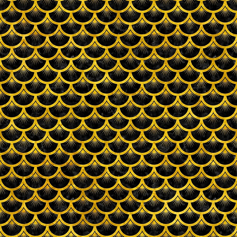 SCALES3 BLACK MARBLE AND YELLOW MARBLE by johnhunternance