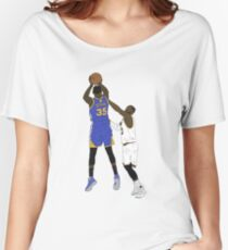 Kevin Durant Clutch Shot Over LeBron James Women's Relaxed Fit T-Shirt